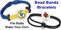 logo imprint beads can go on bracelets