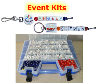 personalized ceramic bead event kits
