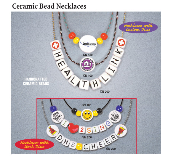ceramic bead necklaces