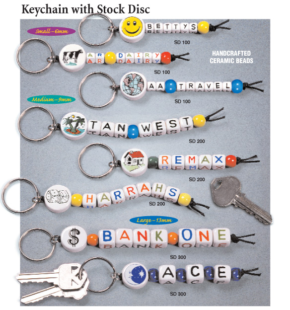 keychain with stock disc