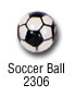 sports beads - soccer ball sports bead