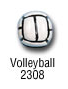 sports beads - volleyball sports bead